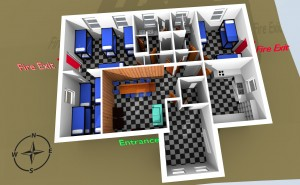 Stair Cottage 3D model view